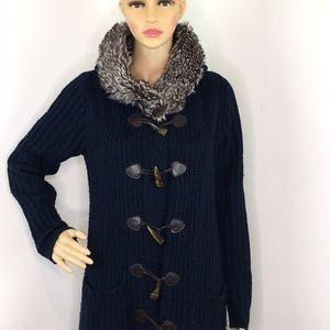 Venus Blue Long Hoodie Sweater